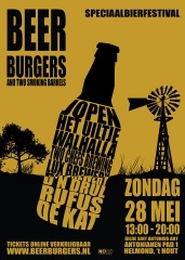 Beer & Burgers and two smoking barrels 2017